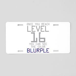 The Color Blurple Aluminum License Plate