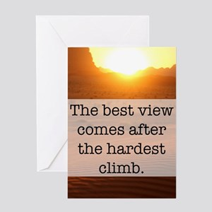 Quotes greeting cards cafepress climb greeting cards m4hsunfo