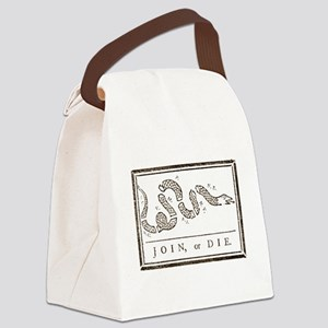 Join or Die Right Wing Extremist Canvas Lunch Bag