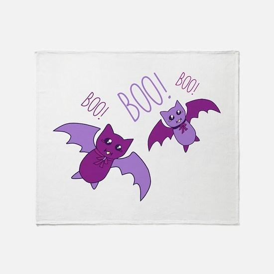 Boo Bats Throw Blanket