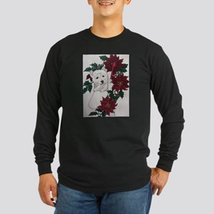 Westie Holiday Delivery Long Sleeve Dark T-Shirt