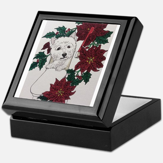 Westie Holiday Delivery Keepsake Box