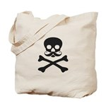 Skull with Mustache Tote Bag