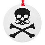 Skull with Mustache Ornament