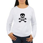 Skull with Mustache Long Sleeve T-Shirt