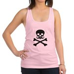 Skull with Mustache Racerback Tank Top