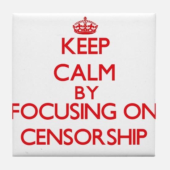 Censorship Tile Coaster