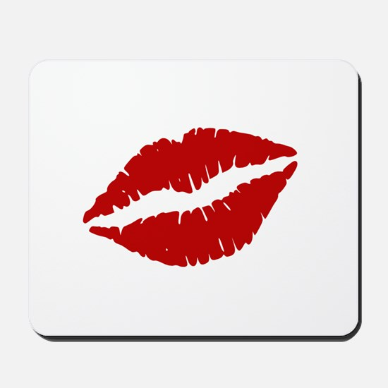 Big Red Lips Mousepad