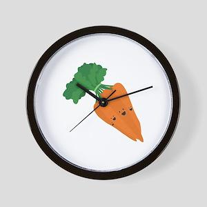 Bunch Of Carrots Wall Clock