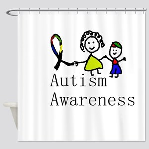 Autism Awareness Friends Shower Curtain