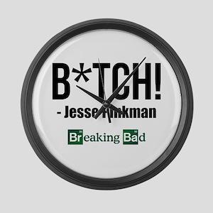 B*TCH! - Jesse Pinkman Large Wall Clock