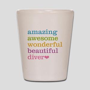 Amazing Diver Shot Glass