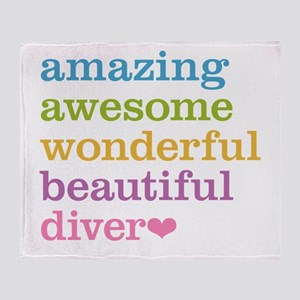 Amazing Diver Throw Blanket