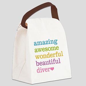 Amazing Diver Canvas Lunch Bag