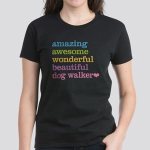 Dog Walker Women's Dark T-Shirt
