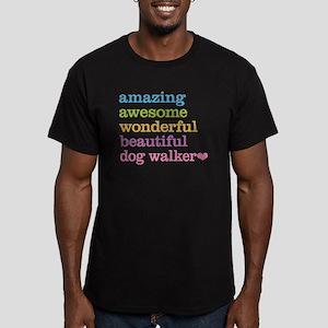 Dog Walker Men's Fitted T-Shirt (dark)