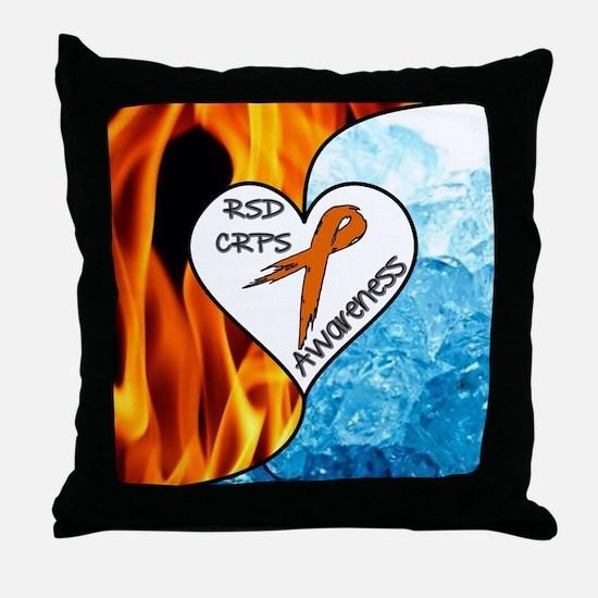 RSD*CRPS Fire & Ice Throw Pillow