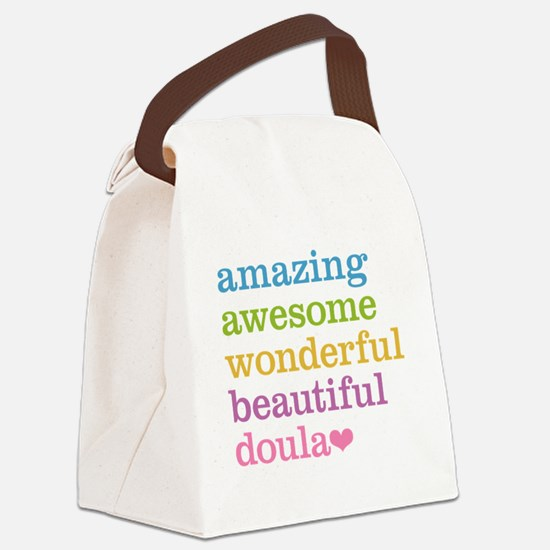 Amazing Doula Canvas Lunch Bag