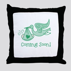 Coming Soon Throw Pillow