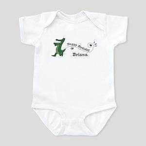 Happy Birthday Briana (gator) Infant Bodysuit