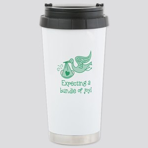 Expecting a Bundle of J Stainless Steel Travel Mug