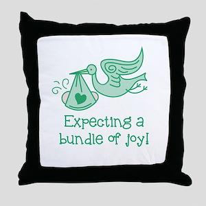 Expecting a Bundle of Joy Throw Pillow