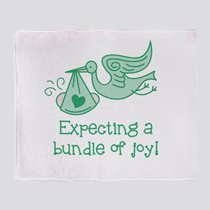 Expecting a Bundle of Joy Throw Blanket