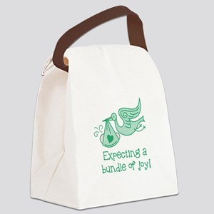 Expecting a Bundle of Joy Canvas Lunch Bag