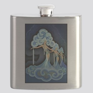 Folies Bergere; French, Vintage Art Flask