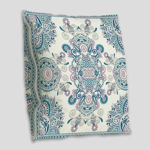 Traditional Pattern Burlap Throw Pillow