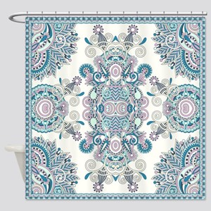 Traditional Pattern Shower Curtain