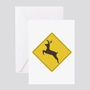 Rudolph Crossing Greeting Cards
