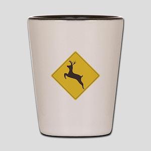 Rudolph Crossing Shot Glass