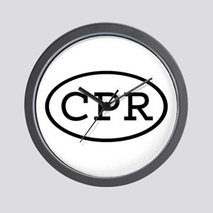 CPR Oval Wall Clock