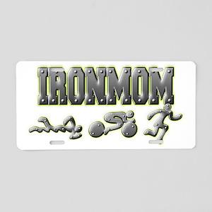 IronMom Ironman Metal Figur Aluminum License Plate