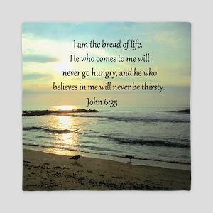 JOHN 6:35 Queen Duvet