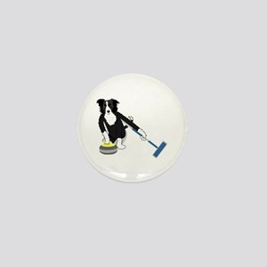 Border Collie Curling Mini Button