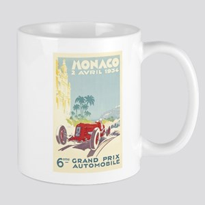 Monaco, Grand Prix, Vintage Poster Mugs