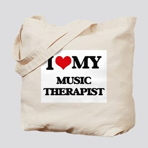 I love my Music Therapist Tote Bag