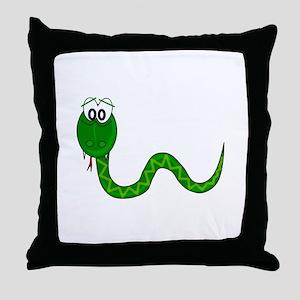 Cartoon Snake Throw Pillow
