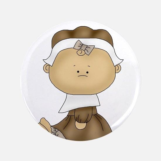 "My First Thanksgiving - Girl 3.5"" Button"
