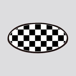 BLACK AND WHITE Checkered Pattern Patches