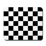Black and white checkered Mouse Pads