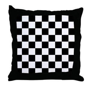 Black And White Checkered Pillows Cafepress