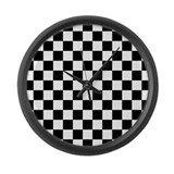 Checkered flag Giant Clocks