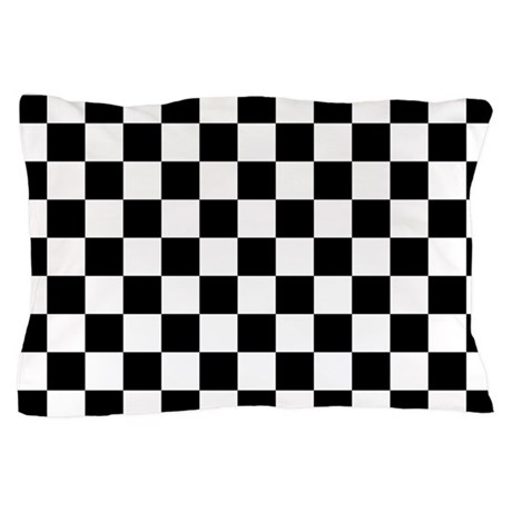 Black And White Checkered Pattern Pillow Case By Beautifulbed