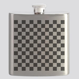 BLACK AND WHITE Checkered Pattern Flask