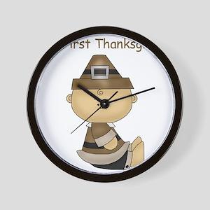 My First Thanksgiving Baby Boy Wall Clock