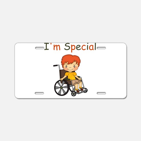 I'm Special - Wheelchair - Boy Aluminum License Pl
