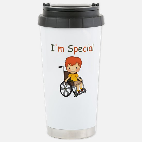 I'm Special - Wheelchair - Boy Travel Mug